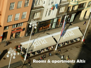 Accommodation (apartments, rooms, studio apartments) situated in West part of Zagreb